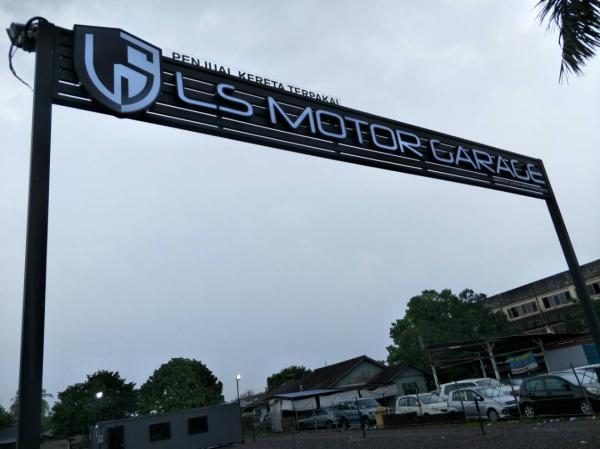 LS Motor 3D Emboss Front Lit LED Signage & Custom Made Structure